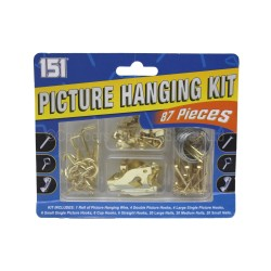 151 Picture Hangling Kit 87 Pieces