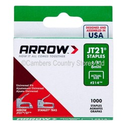 Arrow Staples JT21 1000 Pack