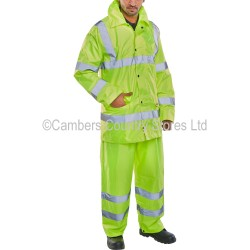 B Seen Hi-Vis Lightweight Waterproof Suit