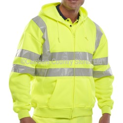 B Seen Hi-Vis Hooded Sweatshirt