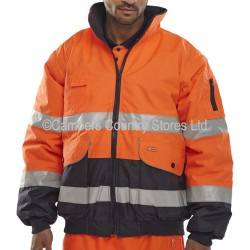 B Seen Hi-Vis Europa 5 In 1 Bomber Jacket