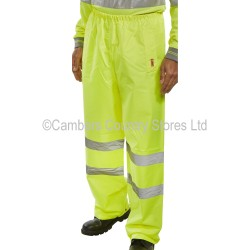 B Seen Hi-Vis Waterproof Trousers