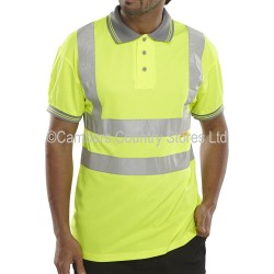 B Seen Hi-Vis Polo Shirt Short Sleeve