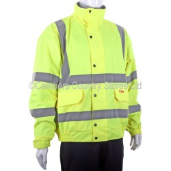 B Seen Hi-Vis Fleece Lined Bomber Jacket