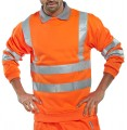 B Seen Hi-Vis Round Neck Sweatshirt