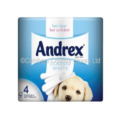 Andrex Toilet Rolls Classic Clean White 4 Pack