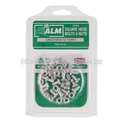 ALM Greenhouse Square Head Nuts & Bolts 20 Pack