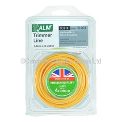 ALM Trimmer Line 2.4mm x 20m Round Yellow