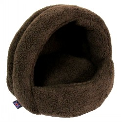 P&L Igloo Fleece Hooded Cat Bed