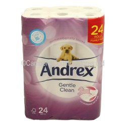 Andrex Toilet Rolls Gentle Clean White 24 Pack