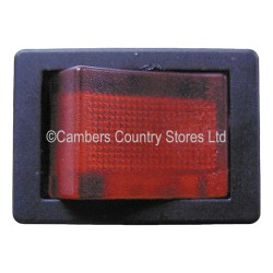 Auto Type Rocker Switch Illuminated Mini Red