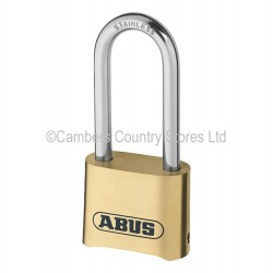 Abus Padlock 180 50mm Brass Combination Long Shackle