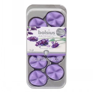 French Lavender 8 x Bolsius Aromatic Wax Melts Scented Candle Burner Fragrance